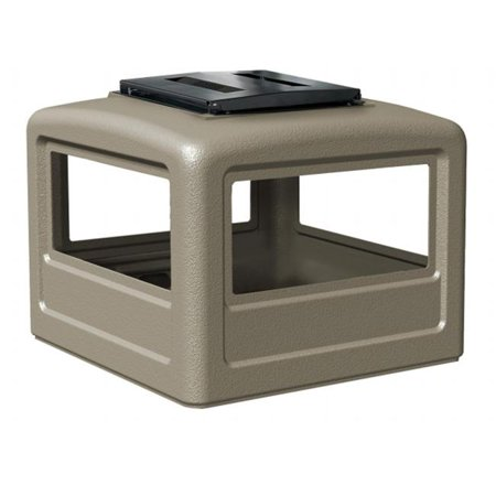 Commercial Zone Products 732302 Square Ashtray Dome Lid, Beige