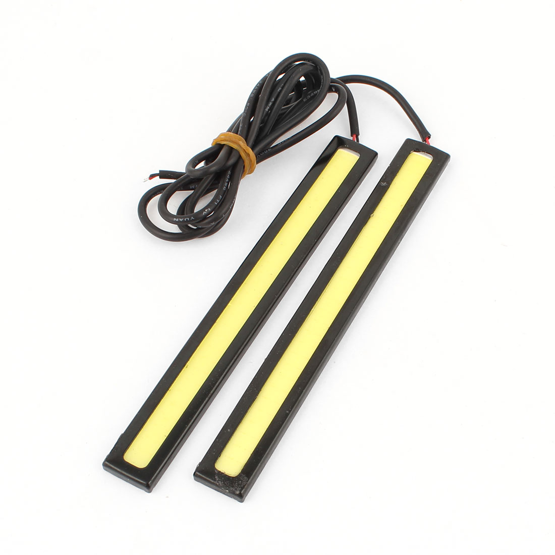 Unique Bargains Auto Self Adhesive 64 COB  Clip DRL Daytime Running Light White 2 Pcs