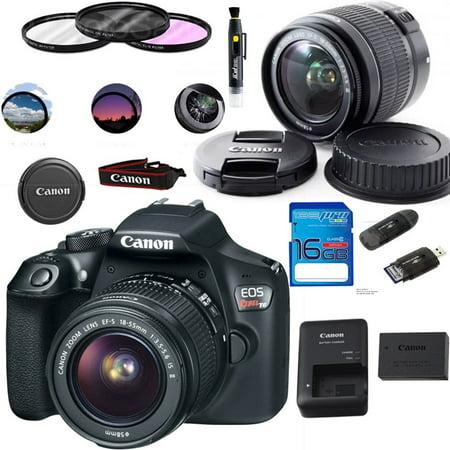 Canon EOS 1300D / T6 EF-S 18-55mm 18 7MP CMOS 5184 x 3456 Pixels (Black) +  Deal-Expo Basic Accessories Bundle