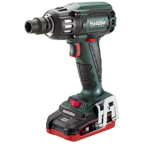Metabo US602205310 18V 3.1 Ah Cordless LiHD 1/2 in. Square Brushless Impact Wrench Kit