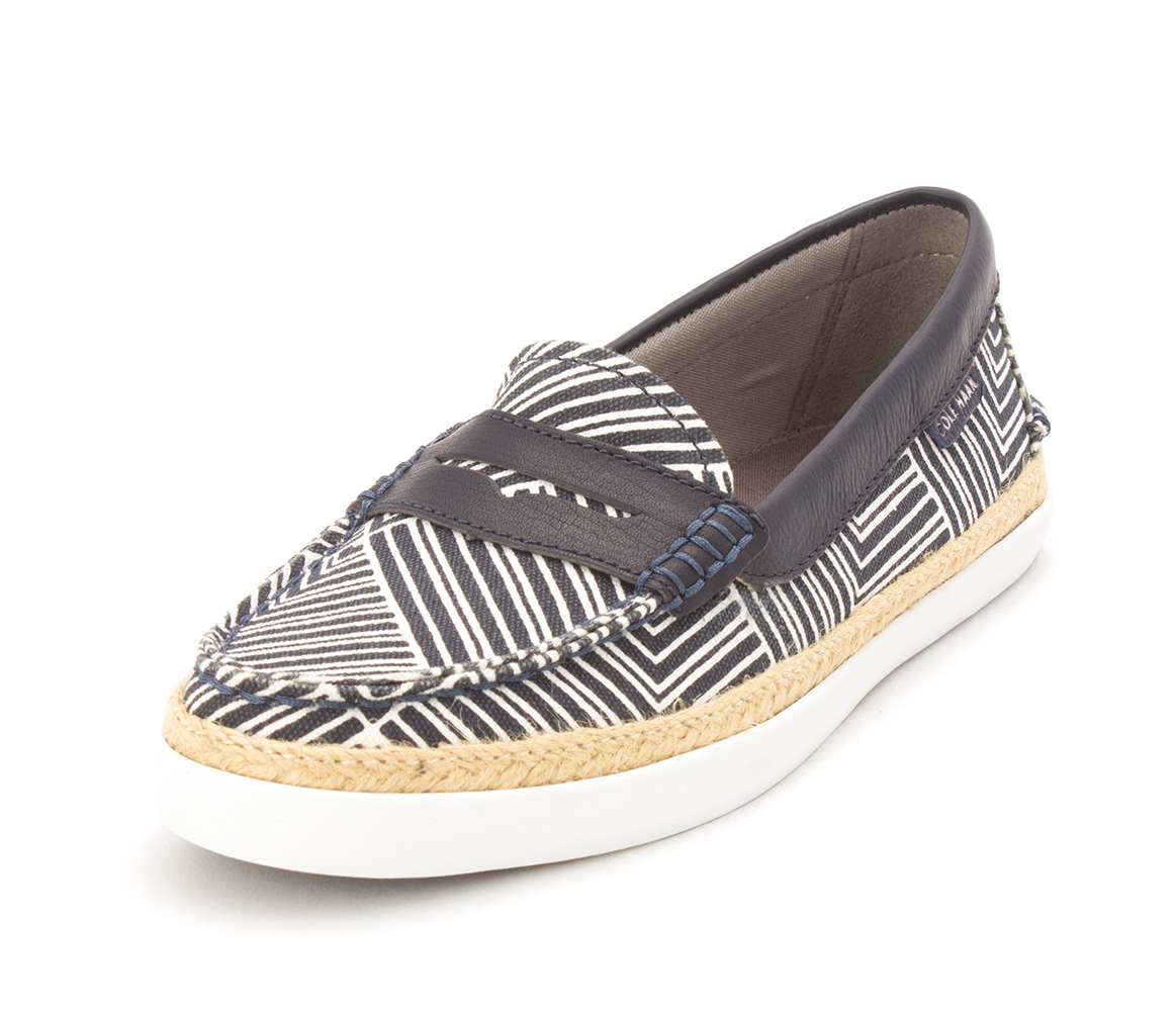 Cole Haan Womens Riverasam Closed Toe Loafers, Blue/White Stripes, Size 6.0