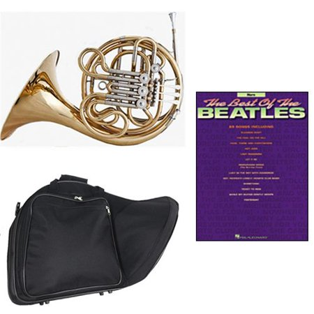 Band Directors Choice Double French Horn Key of F/Bb - Best of The Beatles Pack; Includes Intermediate French Horn, Case, Accessories & Best of The Beatles