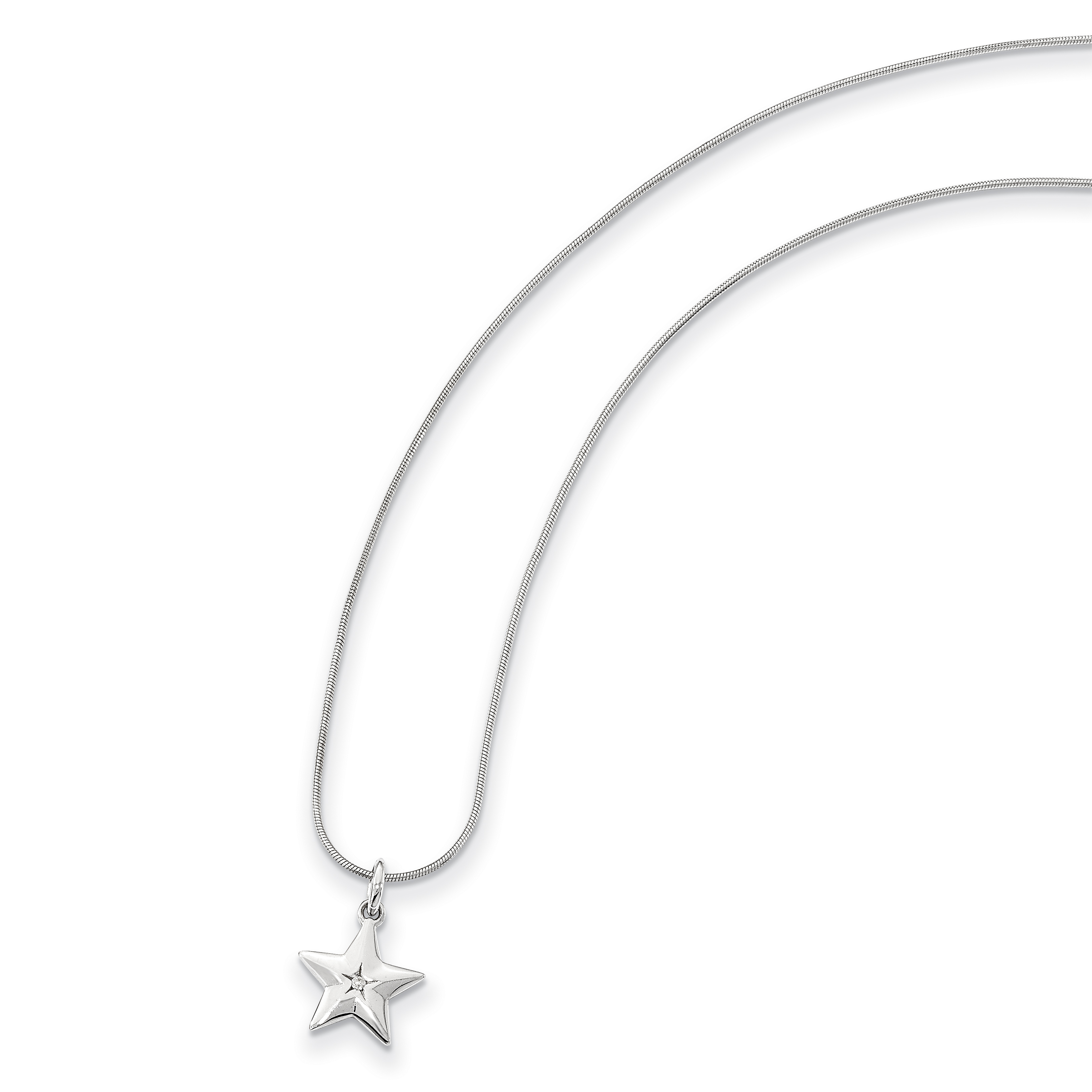 925 Sterling Silver Diamond Star Chain Necklace Pendant Charm Sun Moon Fine Jewelry Gifts For Women For Her - image 3 de 8