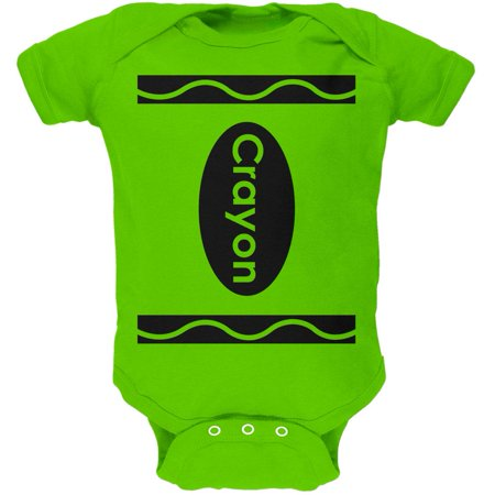 Halloween Crayon Costume Soft Baby One Piece - Costume Apple
