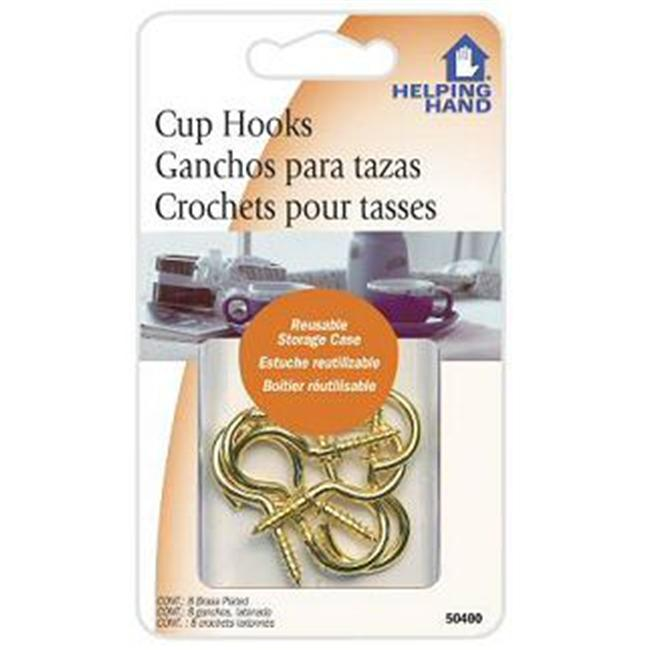 HelpingHand Brass Plated Cup Hook (Set of 3)