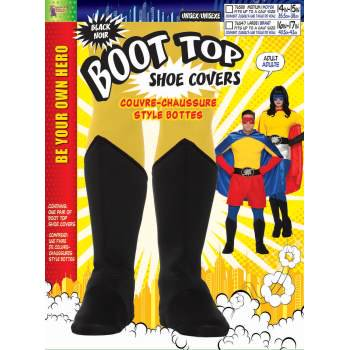 ADULT HERO BOOT TOPS - BLACK