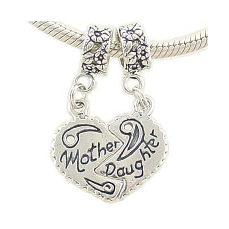 Mother Daughter Bead Charms Compatible with European - Mother Daughter Charm Bracelets