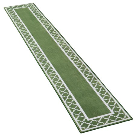 Extra-Long Runner Rug with Trellis Border Design with Skid-Resistant Backing - Décor for Hallways or Any Room in Home, 20