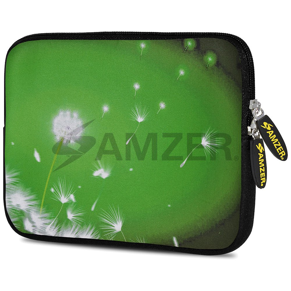 Universal 10.5 Inch Soft Neoprene Designer Sleeve Case Pouch for 10.5 Inch Tablet, eBook, Netbook - Green Expanse
