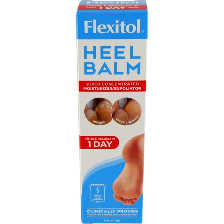 Flexitol Heel Balm Rich Moisturizing & Exfoliating Foot Cream, 2 oz. - Best Cream Cracked Heels