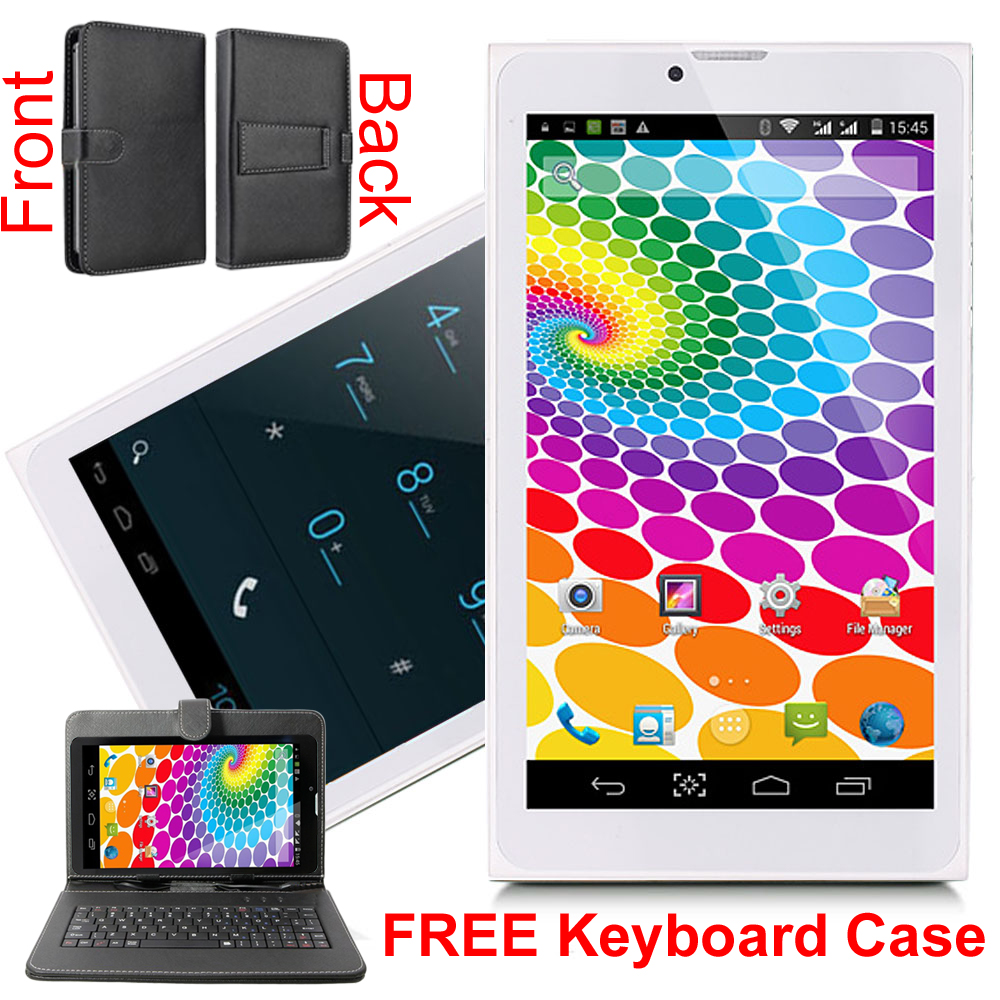 Indigi® 7inch Factory Unlocked 3G SmartPhone 2-in-1 Phablet Android 4.4 KitKat Tablet PC w/ WiFi + Keycase Included