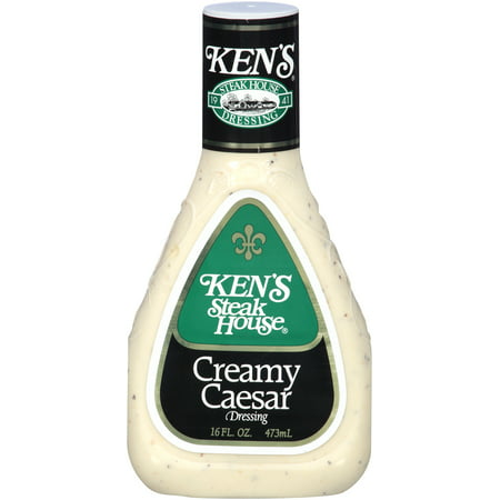(3 Pack) Ken's Steakhouse Dressing, Creamy Caesar, 16 Fl (Best Store Bought Caesar Dressing)