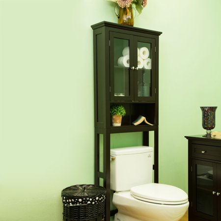 glitzhome bathroom wooden over the toilet storage cabinet
