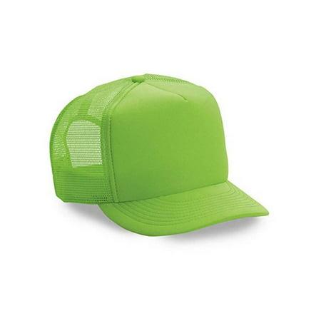 Popular 5 Panel Trucker Cap Hat Foam Neon Mesh Snap Back One Size -  Walmart.com 2c796fca2f7