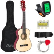 Best Choice Products 30in Kids Acoustic Guitar Beginner Starter Kit with Tuner, Strap, Case, Strings - Natural