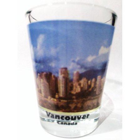 Vancouver British Columbia Canada City Skyline Color Photo Shot - Columbia Glass