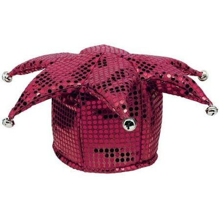 Burgundy Sequin Jester Costume Hat (1ct)](Jester Accessories)