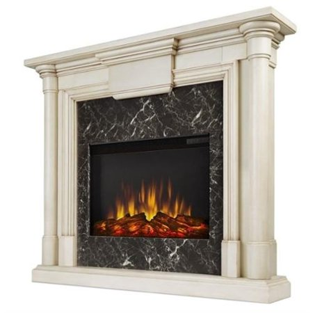 Real Flame Maxwell Indoor Slim Electric Fireplace In Antique White