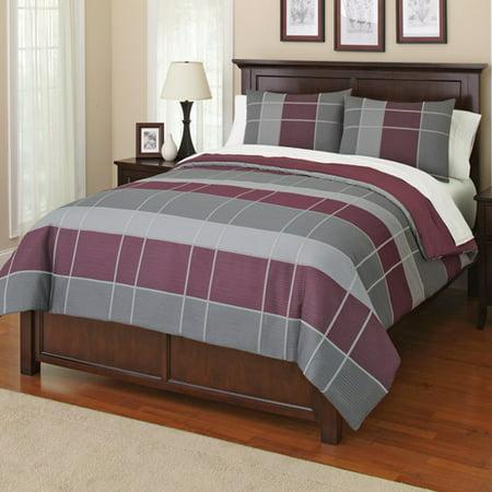 Canopy Grid Bedding Comforter Set Walmart Com