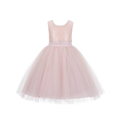 - Ekidsbridal Formal Satin Sequins Bodice Ruffle Tulle Flower Girl Dress Bridesmaid Wedding Pageant Toddler Recital Holiday Communion Birthday Baptism Occasions J122