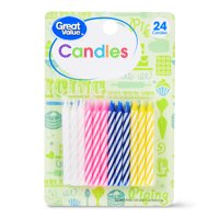 Great Value Celebration Spiral Candles, Assorted Colors, 24 Count