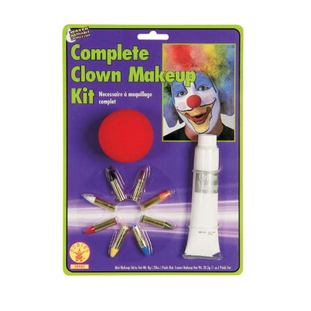 Clown Makeup Kit with Nose for Halloween - 60s Halloween Makeup