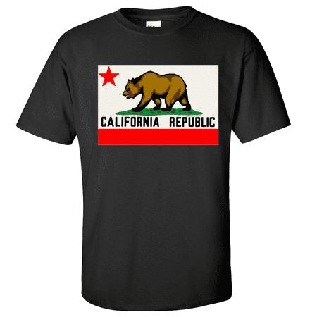 New CALIFORNIA REPUBLIC ORIGINAL BEAR FLAG T SHIRT TEE Cali State CA