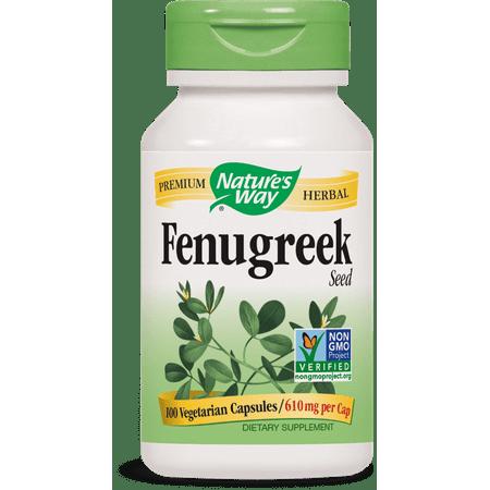 Nature's Way - Fenugreek Seed 610 mg 100 Capsules FENUG Exp.2.18+ SD