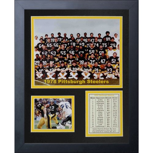 Legends Never Die Pittsburgh Steelers 1978 Champs Framed Memorabili