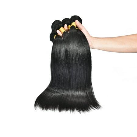 Hair 911 16  Peruvian Straight Hair Extension  Black