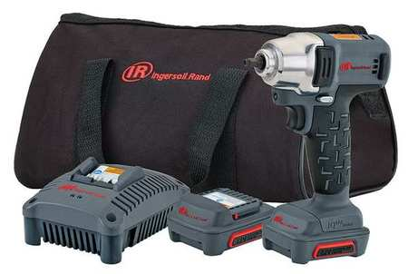INGERSOLL-RAND W1120-K2 Cordless Impact Wrench, 12V, 1 4 in. by Ingersoll-Rand