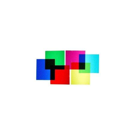 6 color transparent correction lighting gel filter film plastic
