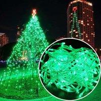Waterproof 100 LED Christmas Tree Fairy String Party Lights Lamp Xmas 10M Green