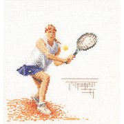 Thea Gouverneur Counted Cross-Stitch Kit, Tennis