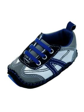 rising star infant boys blue & gray tennis shoes soft baby crib shoes