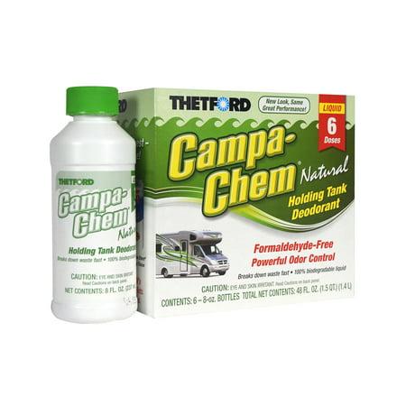 Campa-Chem Natural RV Holding Tank Treatment - Deodorant / Waste Digester / Detergent - 6 x 8 oz pack - Thetford 20620