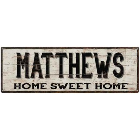 MATTHEWS Rustic Home Sweet Home Sign Gift 8x24 Metal Decor 108240084217