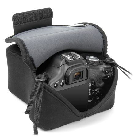 Offer USA GEAR DuraNeoprene DSLR FlexARMOR Sleeve Case – Works With Nikon D750, Canon EOS-1D X Mark II, Pentax K-3 II, Sony Alpha A7 and Many Other DSLR Cameras Before Too Late