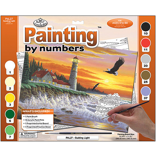 Royal Brush Adult Large Paint By Number Kit