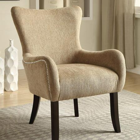 Coaster Fabric Accent Chair Sand Walmart Com
