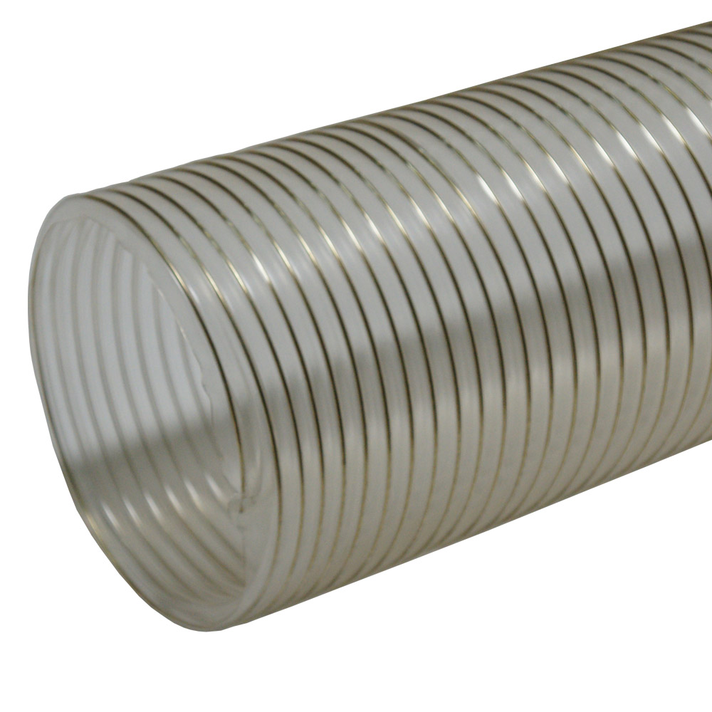 "Rubber-Cal ""PVC Flexduct"" General Purpose - 9"" ID x 12' (Fully Stretched) - Clear"