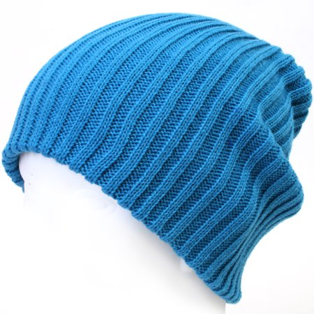 465520518118f ililily Stretch-fit Ribbed Knit Beanie Skull Winter Hat Sports Running  Beanies