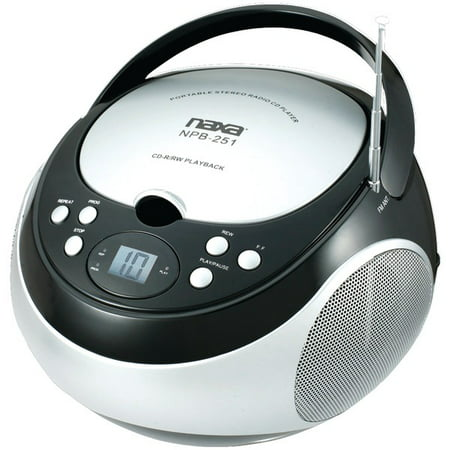 NAXA Electronics NPB-251BK Portable CD Player with AM/FM Stereo