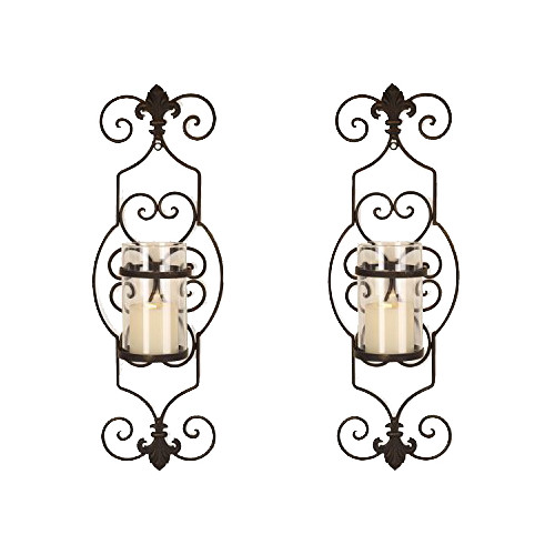 Adeco Trading Iron Wall Sconce Candle Holder (Set of 2) by Adeco Trading