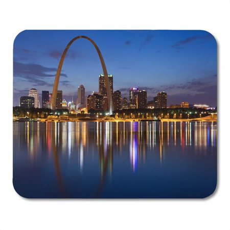 SIDONKU City of St Louis Skyline Downtown Gateway Arch at Mousepad Mouse Pad Mouse Mat 9x10 inch (Gateway Arch Patch)