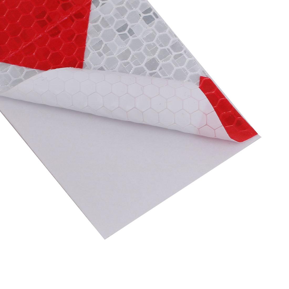 5cmx5m Honeycomb Sous-adhésif réfléchissant Avertissement Rouge Tilt Blanc - image 2 de 3