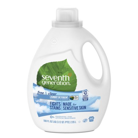 Seventh Generation Liquid Laundry Detergent Free & Clear, 100 oz, 66 Loads