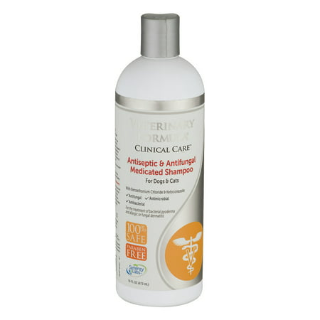 Veterinary Formula Clinical Care Medicated Shampoo for Dogs & Cats Antiseptic & Antifungal, 16.0 FL OZ