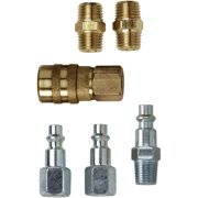 "Campbell-Hausfeld MP2119 1/4"" Coupler & Plug 4 Piece Set"