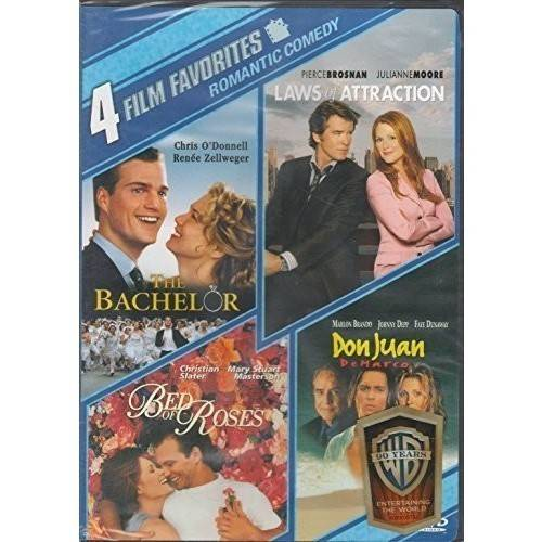 4 Film Favorites: New Line Romantic Comedy - The Bachelor / Bed Of Roses / Laws Of Attraction / Don Juan Demarco